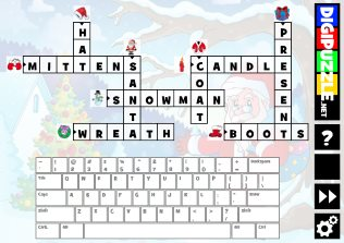 christmas picture crossword puzzle - Christmas Game