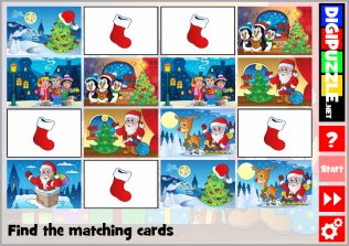 Christmas Cartoons Memory Game