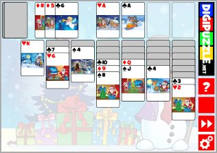 Christmas Solitaire.Christmas Games Digipuzzle Net