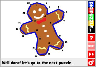 Gingerbread Line puzzles
