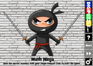 math ninja till 20