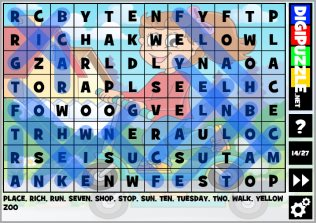 Educational games and puzzles   Digipuzzle net