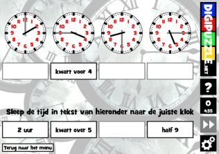 Verbazingwekkend Klokkijken oefenen spelletjes voor de basisschool   Digipuzzle.net RQ-75