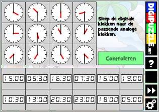 Ongekend Klokkijken oefenen spelletjes voor de basisschool   Digipuzzle.net NK-52